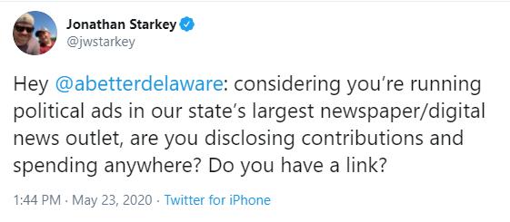 Jonathan Starkey responds to A Better Delaware